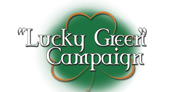 lucky green shamrock for webpage