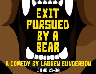 Spotlight on Exit Pursued by a Bear