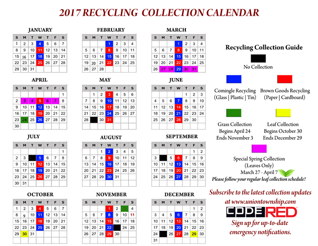 Town Of Union Garbage Pickup Schedule 2019 Garbage Image